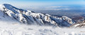 Mountains Under The Snow In Winter. Panorama Of Snow Mountain Range Landscape. Stock Image - 67792391