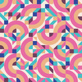 Abstract Background Vector Seamless Pattern In Fashion Retro Style Of Memphis Italian Design Group 80s. Royalty Free Stock Photo - 67796115