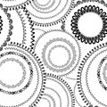 Abstract Geometric Seamless Pattern. Bubble Ornamental Backgroun Royalty Free Stock Photography - 67798397