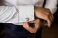 Men Wear A Shirt And Cufflinks Royalty Free Stock Images - 67798849