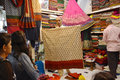 Indian Fabric Traders Stock Photography - 67808552