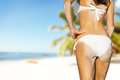 Young Woman In Bikini Looking At Beach Stock Images - 67812494