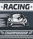 Racing Championship Poster Design. Stock Image - 67816351