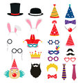 Festive Birthday Party Elements Of Props. Royalty Free Stock Photos - 67835848