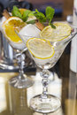 Two Cocktail Glasses. Vermouth Stock Photos - 67841993