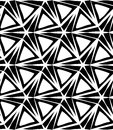 Vector Modern Seamless Geometry Pattern Three Point Star, Black And White Abstract Stock Photo - 67849390