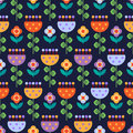Seamless Pattern With Multicolored Flowers Stock Photography - 67851342