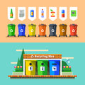 Waste Management And Recycle Concept. Flat Vector. Stock Images - 67852684