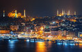ISTANBUL.  Sultanahmet  Night During Night From The Marmara Sea. Stock Photos - 67874093