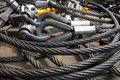 An Image Of Wire Rope Stock Photo - 67876690