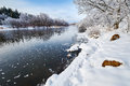 The Winter River And Snow Royalty Free Stock Photography - 67882187
