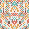 Vector Seamless Tribal Pattern. Ethnic Print Ornament Royalty Free Stock Image - 67882926