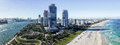 South Pointe Buildings And Coast, Miami Form The Air Royalty Free Stock Image - 67894726