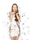 Happy Young Woman Or Teen Girl In Fancy Dress Stock Photos - 67903293