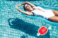 Watermelon In The Pool Royalty Free Stock Photos - 67904498