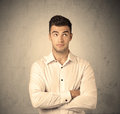 Sales Worker Making Face Expressions Royalty Free Stock Image - 67934196