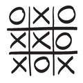 Hand Drawn Tic Tac Toe Vector Scribble Icon Symbol Illustration Stock Photography - 67937342