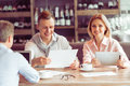 Business Lunch At Restaurant Stock Photography - 67944952
