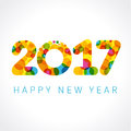 2017 Happy New Year Color Numbers Stock Images - 67952504