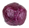 Red Cabbage Isolated On White Background Stock Image - 67965641