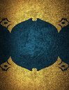 Gold Grunge Frame With Blue Background. Element For Design. Template For Design. Copy Space For Ad Brochure Or Announcement Invita Royalty Free Stock Photography - 67974737