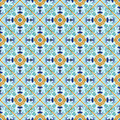 Talavera Tile. Vibrant Mexican Seamless Pattern, Royalty Free Stock Photography - 68068117