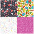 Set Of Bags Seamless Pattern Background Stock Photography - 68069982