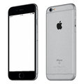 Space Gray Apple IPhone 6S Mockup Slightly Clockwise Rotated Royalty Free Stock Photography - 68091507