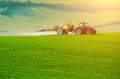 Farm Machinery Spraying Insecticide Royalty Free Stock Images - 68093229