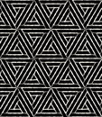 Vector Modern Seamless Geometry Pattern Hexagon Grunge, Black And White Abstract Stock Photo - 68093380