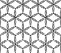Vector Modern Seamless Sacred Geometry Pattern Flower Of Life , Black And White Abstract Stock Photography - 68093412