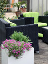Garden Furniture On Terrace Or Balcony Stock Photos - 68112283