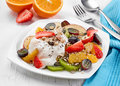 Plate Of Fruit Salad Stock Image - 68118051