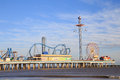 Pleasure Pier Amusement Park And Beach On The Gulf Of Mexico Coast In Galveston Royalty Free Stock Image - 68119976