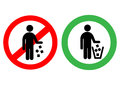 No Littering Sign In Vector Royalty Free Stock Image - 68126056