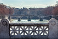 Ponte Sisto From Ponte Mazzini. Tiber River. Bridge Rome Italy. Stock Photo - 68141820
