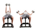Dumbbell Fly Royalty Free Stock Image - 68146276
