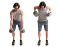 Bent Over Row Royalty Free Stock Image - 68146686