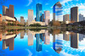 Houston Texas Skyline With Modern Skyscrapers And Blue Sky View Stock Images - 68152874