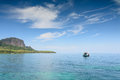 Local Fisherman Boat Floating In Tropical Sea Near The Island Royalty Free Stock Photos - 68156538