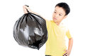 Keep Garbage In Bag For Eliminate Royalty Free Stock Photos - 68177608