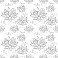 Pattern With Succulent Plants Royalty Free Stock Photos - 68177618