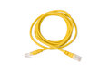 Yellow UTP LAN Cable On White Background Royalty Free Stock Photography - 68191667