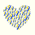 World Down Syndrome Day Yellow Blue Ribbon Stock Image - 68197281