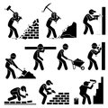 Builders Constructors Workers Building Houses Clipart Royalty Free Stock Photo - 68204085