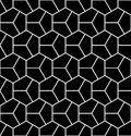 Vector Modern Seamless Geometry Pattern Hexagon, Black And White Abstract Stock Image - 68225031