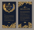 Flyer Template Laurel Wreath And Gold Confetti Royalty Free Stock Photography - 68226307