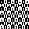 Seamless Vector Chaotic Pattern With Black And White Chess Pieces. Series Of Gaming And Gambling Patterns Royalty Free Stock Photo - 68229515