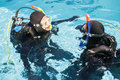 Couple Practicing Scuba Diving Together Royalty Free Stock Photography - 68235907