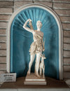 Marble Statue Of Young Woman Artemis Stock Image - 68255251